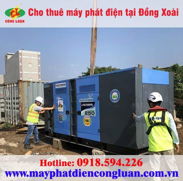 Cho thuê máy phát điện tại Đồng Xoài