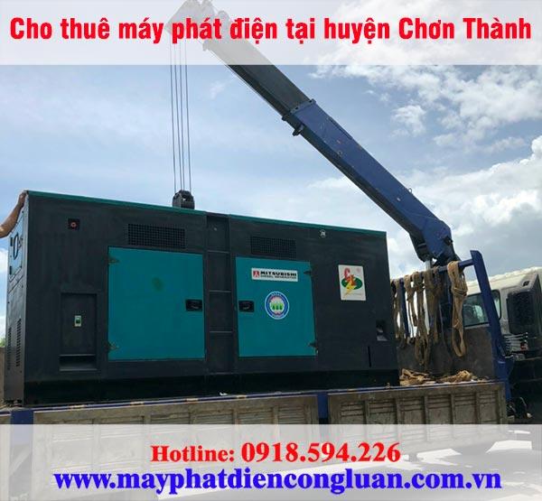 Cho thuê máy phát điện tại huyện Chơn Thành