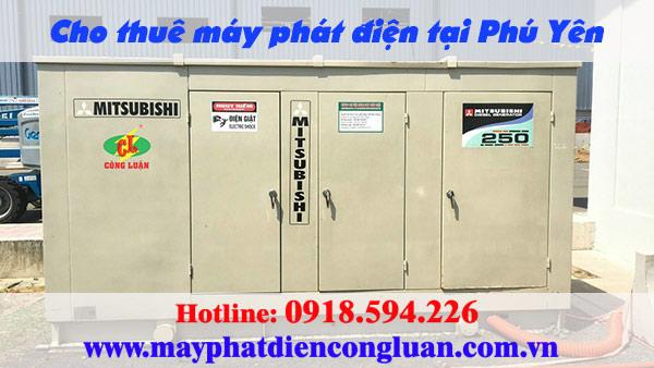 Cho thuê máy phát điện tại Phú Yên