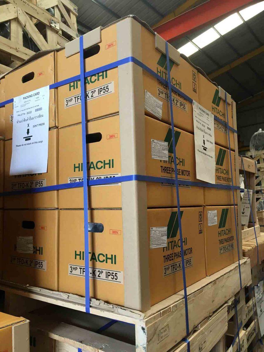 Motor - động cơ điện Hitachi 3 pha TFO-KK 2.2KW 3HP 4P
