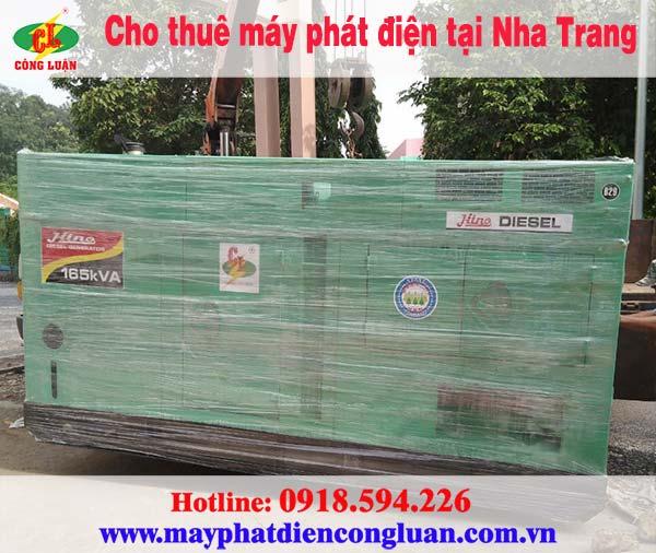 Cần thuê máy phát điện tại Nha Trang giá rẻ